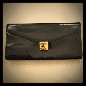 Patent leather clutch/purse w shoulder strap NWT